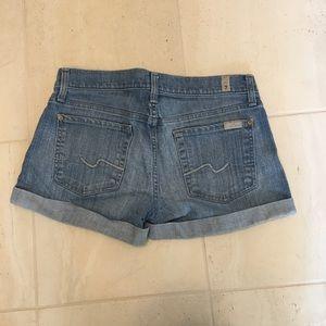 7FAM denim shorts 27